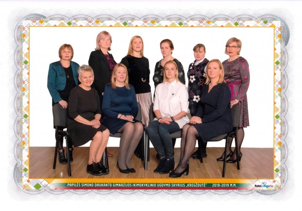 Pedagogų nuotrauka 2019