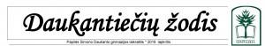 """Išėjo naujas gimnazijos laikraščio """"Daukantiečių žodis"""" rugsėjo mėn. numeris"""