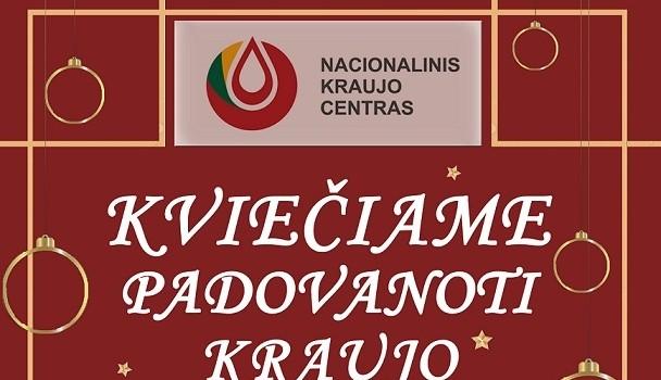 Kviečiame į kraujo  donorystės  akciją 2020-02-14