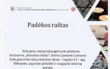 PADĖKA gimnazijos bendruomenei už prisijungimą prie pilietinės iniciatyvos ATMINTIES KELIAS