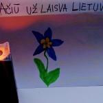 Tajaus gėlytė ir žvakutė