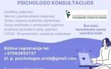Nemokamos psichologo konsultacijos