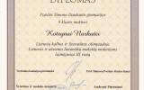 K. Narkutei III laipsnio diplomas (2016-03-04)