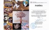 """Padėka už dalyvavimą pilietinėje iniciatyvoje """"Tolerancijos paukštis"""" (2016-11-16)"""