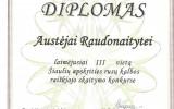 Diplomas A.Raudonaitytei laimėjusiai III v. Šiaulių apskrities rusų k. raiškiojo skaitymo konkurse (2017-03-24)
