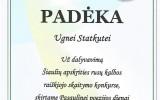 Padėka U.Statkutei už dalyvavimą Šiaulių apskrities rusų k. raiškiojo skaitymo konkurse (2017-03-24)