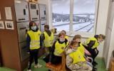 Trečiokų išvyka traukiniu į Šiaulius